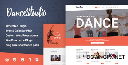 ThemeForest - Dance Studio v1.1.5 - WordPress Theme for Dancing Schools & Clubs