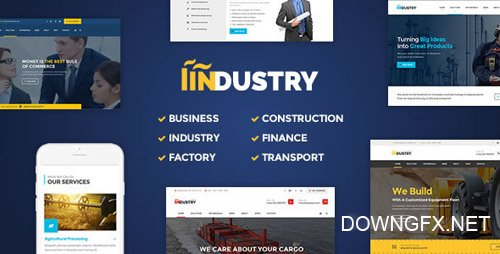 ThemeForest - Industry v2.10 - Business, Factory, Construction, Transport & Finance WordPress Theme - 16510989