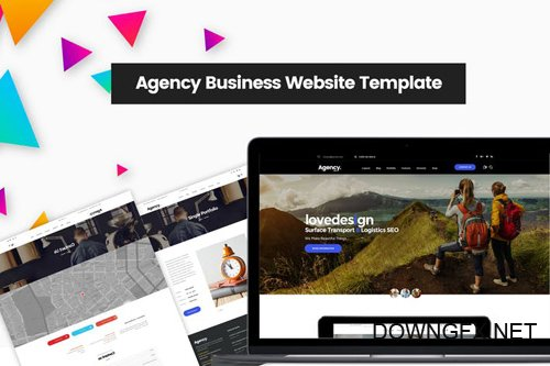 Agency Business Website Template | Company Design