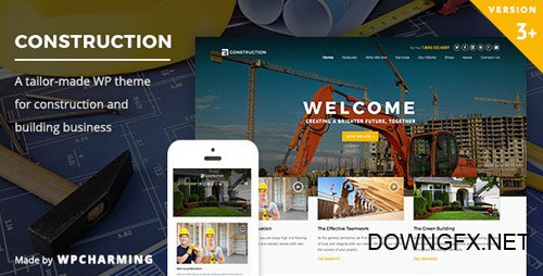 ThemeForest - Construction v3.1.6 - WP Construction, Building Business - 10439297