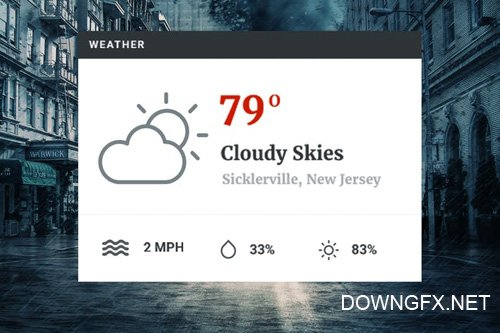Weather Widget - Sidebar Forecast Viewer