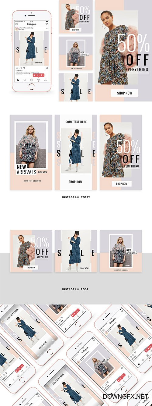 Feminine Fashion Instagram Pack - CM 2177818