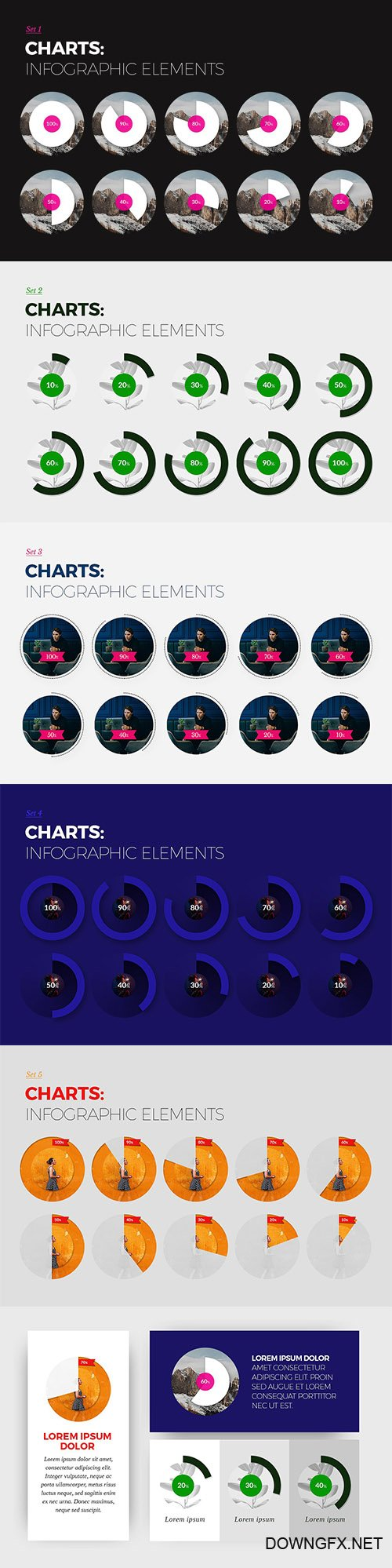 Charts sets - Infographic elements - CM 1965876