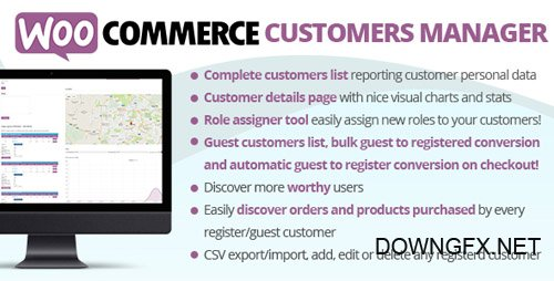 CodeCanyon - WooCommerce Customers Manager v19.0 - 10965432