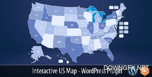 CodeCanyon - Interactive US Map v2.2.2 - WordPress Plugin - 10359489