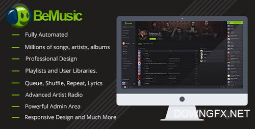 CodeCanyon - BeMusic v2.1.7 - Music Streaming Engine - 13616699