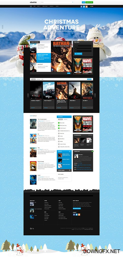 JoomlArt - JA Obelisk v1.1.4 - Responsive Joomla Template for Movie & Entertainment