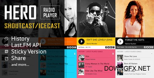 CodeCanyon - Hero v1.5 - Shoutcast and Icecast Radio Player With History - 19325462