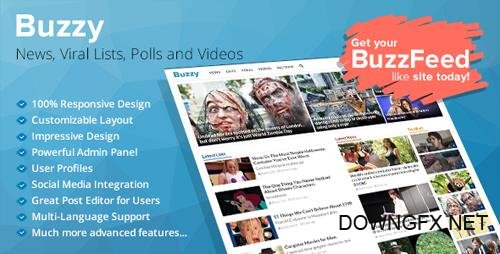 CodeCanyon - Buzzy v2.5.2 - News, Viral Lists, Polls and Videos - 13300279