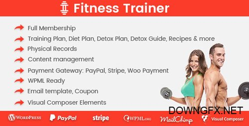 CodeCanyon - Fitness Trainer v1.1.3 - Training Membership Plugin - 19901278