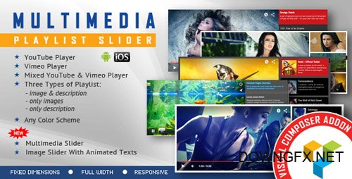 CodeCanyon - Visual Composer Addon - Multimedia Playlist Slider v1.5 - 13542522