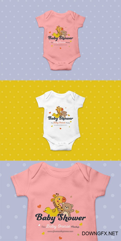 PSD Mock-Up - Baby Onesie