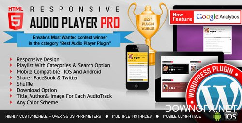 CodeCanyon - Responsive HTML5 Audio Player PRO WordPress Plugin v2.3 - 7649878