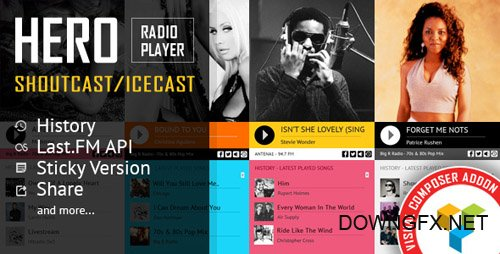 CodeCanyon - Hero v1.5 - Shoutcast and Icecast Radio Player With History - Visual Composer Addon - 19435685