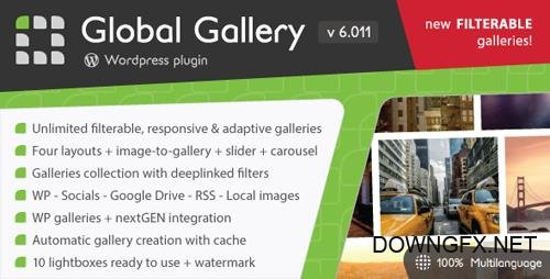CodeCanyon - Global Gallery v6.011 - Wordpress Responsive Gallery - 3310108