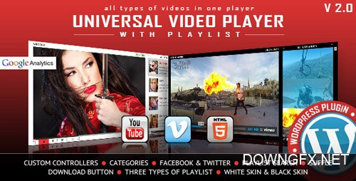 CodeCanyon - Universal Video Player v2.5 - WordPress Plugin - 9683312