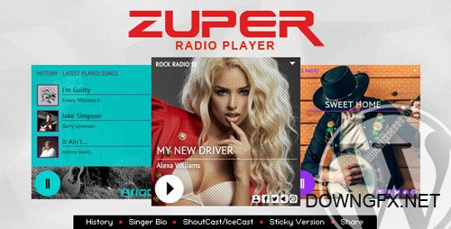 CodeCanyon - Zuper v1.1 - Shoutcast and Icecast Radio Player With History - WordPress Plugin - 21094130