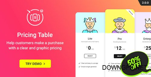 CodeCanyon - WordPress Pricing Table Plugin v2.0.0 - 20841735