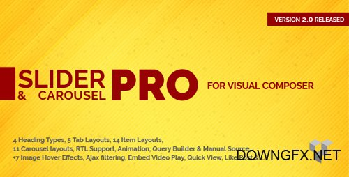 CodeCanyon - Pro Slider & Carousel Layout for Visual Composer v2.0.0 - Amazingly Display Post & Custom Post - 15396272
