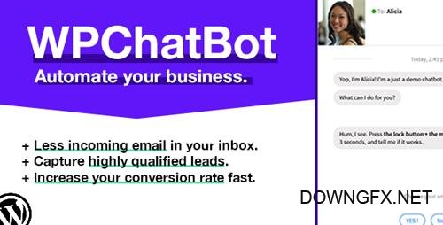 CodeCanyon - WP Chatbot v1.13 - Wordpress Chatbot Builder - 20437806