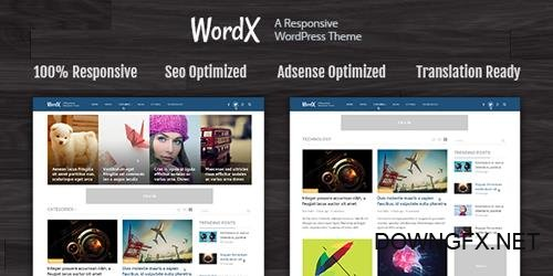 MyThemeShop - WordX v1.2.9 - Perfect WordPress Theme For Blogs and Online Magazines