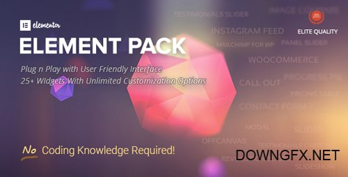 CodeCanyon - Element Pack v1.3 - Addon for Elementor Page Builder WordPress Plugin - 21177318