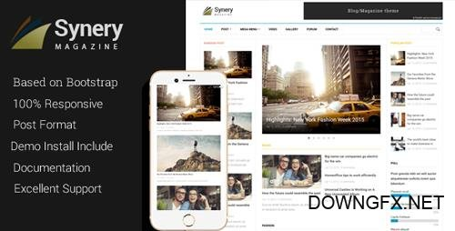 ThemeForest - Synery - Responsive Magazine News Drupal Theme (Update: 21 June 15) - 11224654