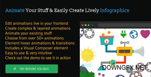 CodeCanyon - Animatic v1.2.1 - Advanced WordPress Frontend Animator - 12225302