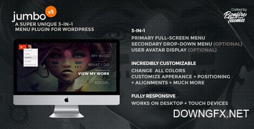 CodeCanyon - Jumbo v3.1 - A 3-in-1 full-screen menu for WordPress - 8103070