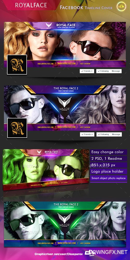 GraphicRiver - Royalface - Facebook Timeline Cover - 10788328