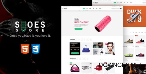 ThemeForest - Shoes v1.0 - eCommerce HTML5 Template - 20622067