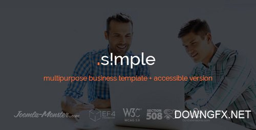 ThemeForest - JM Simple v1.03 - multipurpose business Joomla template - 15205484