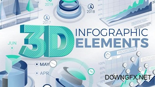 3D Infographic Elements 56765 - After Effects Templates