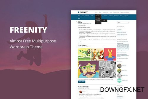 Freenity v1.5 - Cheap WordPress Theme - CM 1486703