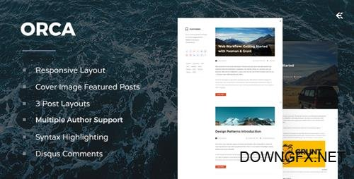 ThemeForest - Orca v3.1.0 - Responsive Ghost Theme - 7614135