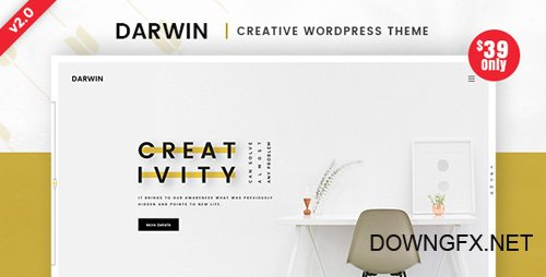 ThemeForest - Darwin v2.0 - Creative WordPress Theme - 20302483