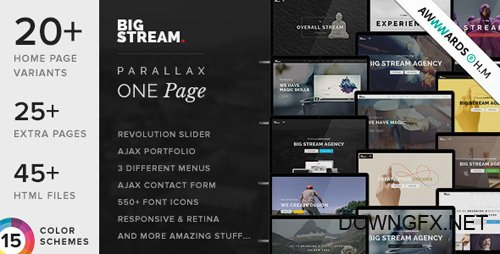 ThemeForest - BigStream v1.5.8 - One Page Multi-Purpose Template - 8732098