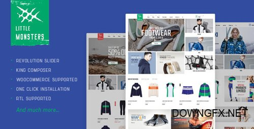 ThemeForest - Littlemonsters v1.0 - Sport Shop WooCommerce WordPress Theme - 20700033