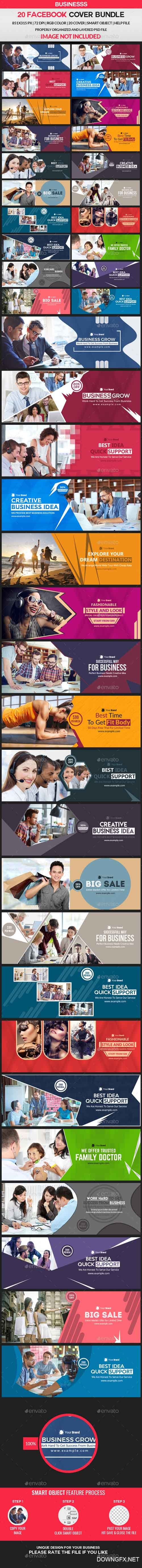 GraphicRiver - Facebook Cover Bundle - 20 Design 2 - 21324984