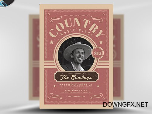 PSD Country Night Flyer Template v1