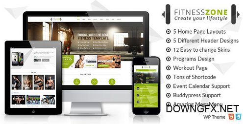 ThemeForest - Fitness Zone v3.3 - Gym & Fitness Theme, perfect fit for fitness centers and Gyms - 10612256