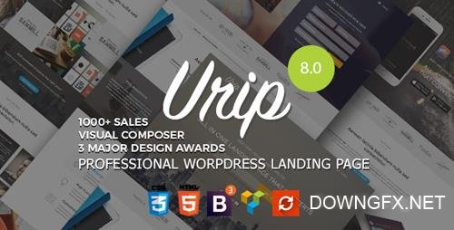 ThemeForest - Urip v8.2 - Professional WordPress Landing Page - 11690533