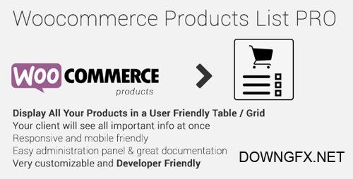 CodeCanyon - Woocommerce Products List Pro v1.1.15 - 17893660