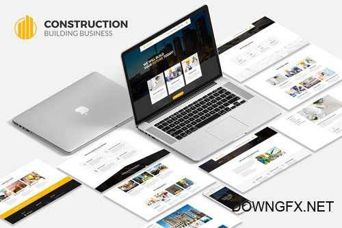 Construction Building Business PSD Template