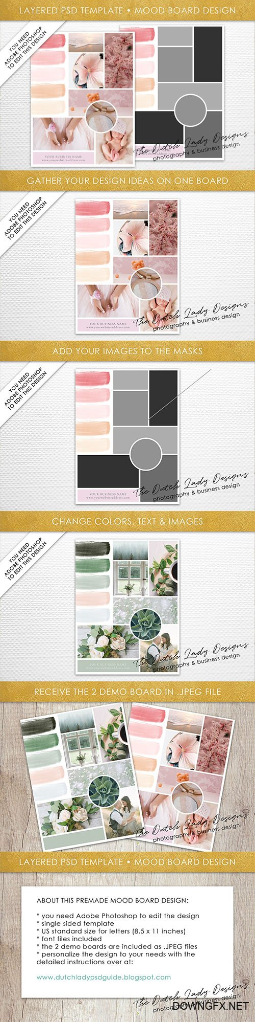 PSD Mood & Vision Board Template #3 - CM 2203730
