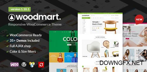 ThemeForest - WoodMart v1.10.0 - Responsive WooCommerce WordPress Theme - 20264492