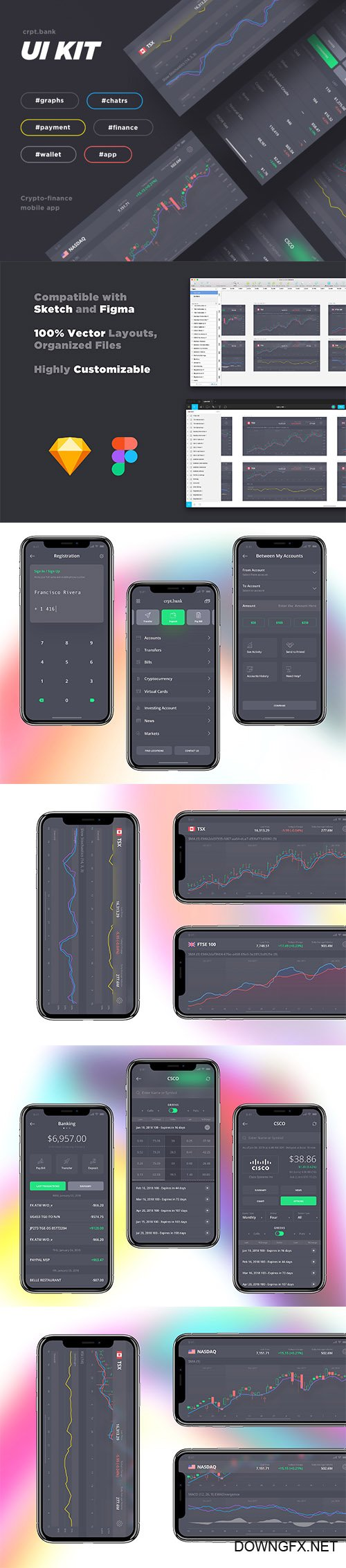 Crypto Bank iOS UI Kit - CM 2222854