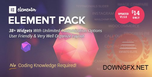 CodeCanyon - Element Pack v1.5.1 - Addon for Elementor Page Builder WordPress Plugin - 21177318