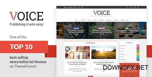 ThemeForest - Voice v2.7 - Clean News/Magazine WordPress Theme - 9646105