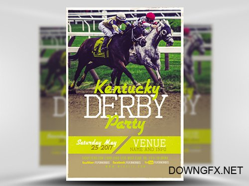 PSD Kentucky Derby Flyer Template
